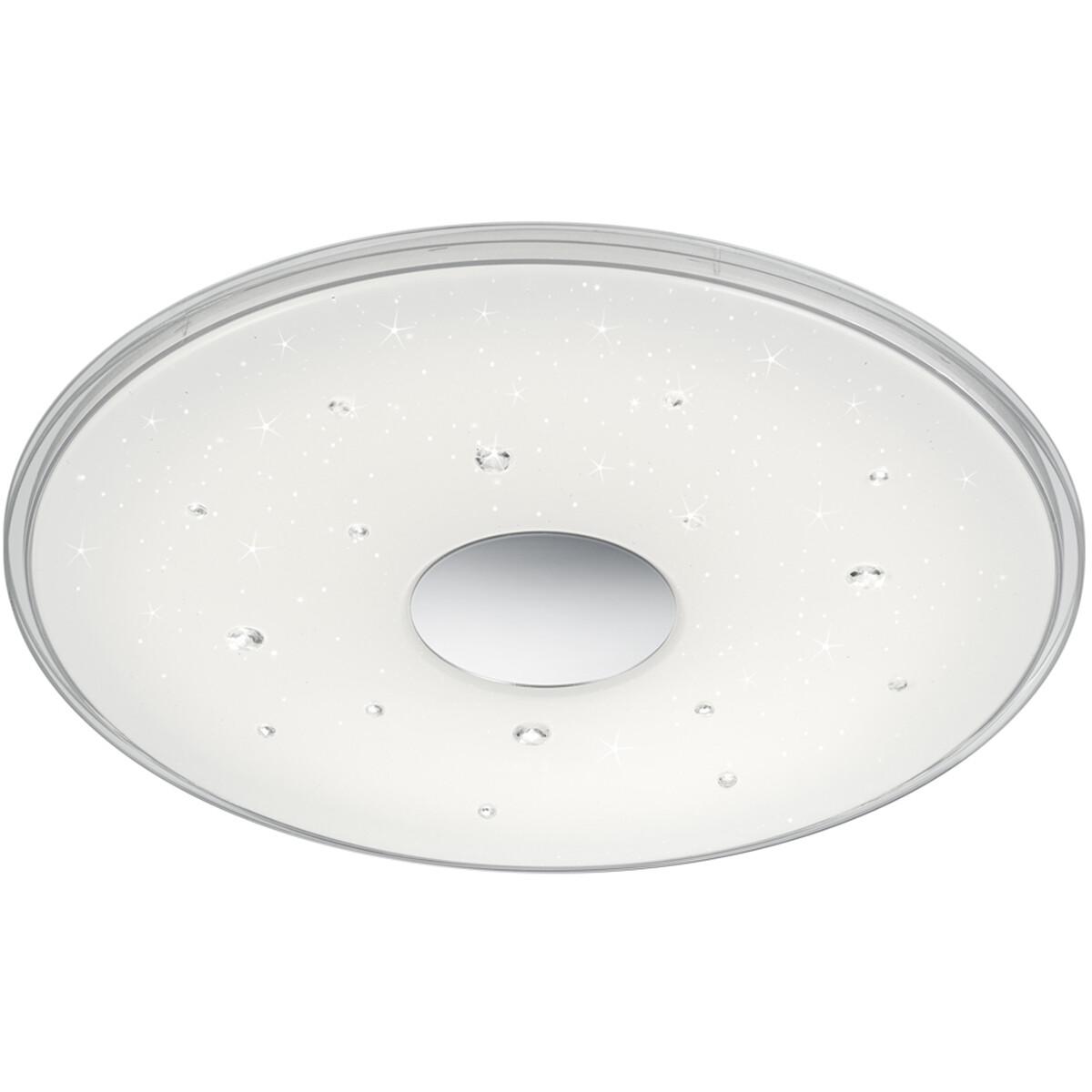 LED Plafondlamp - Trion Seykon - 30W - Aanpasbare Kleur - Dimbaar - Afstandsbediening - Sterlicht -