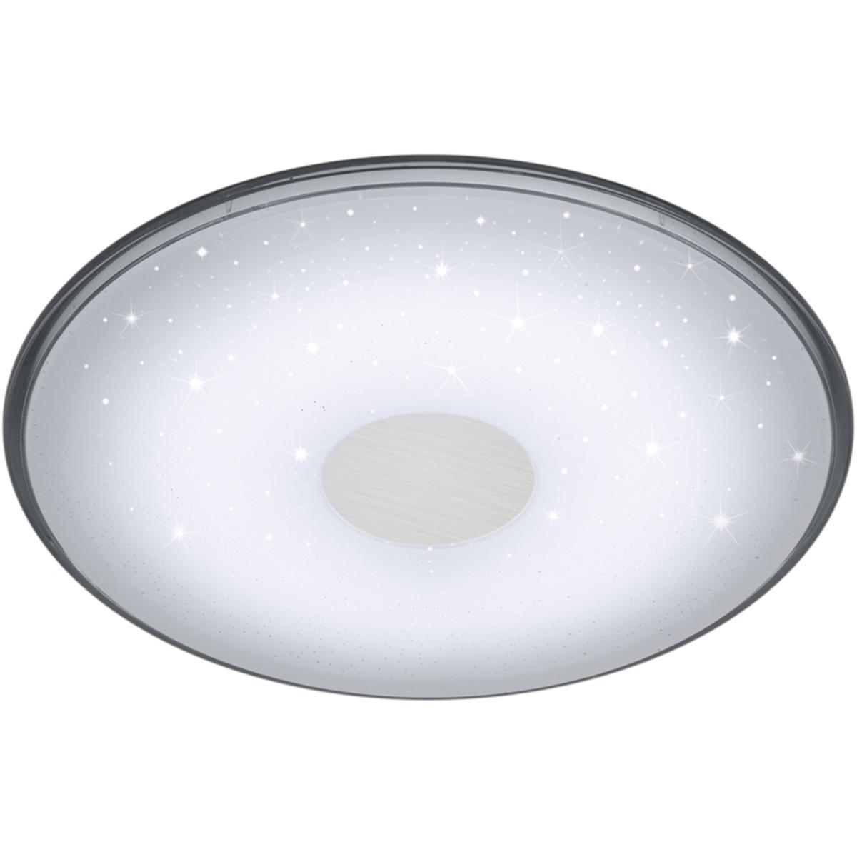 LED Plafondlamp - Trion Sorgina - 30W - Aanpasbare Kleur - Dimbaar - Afstandsbediening - Rond - Mat