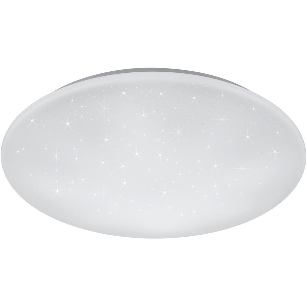 LED Plafondlamp - Trion Ster - 27W - Aanpasbare Kleur - Dimbaar - Afstandsbediening - Sterlicht - Ro