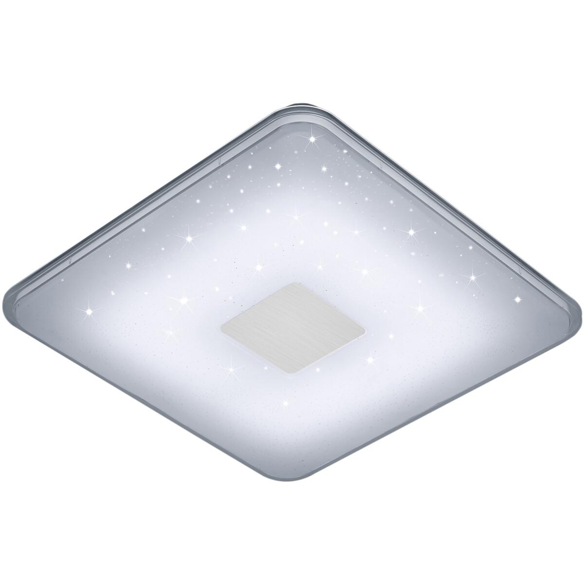LED Plafondlamp - Trion Sumoran - 30W - Aanpasbare Kleur - Dimbaar - Afstandsbediening - Vierkant -