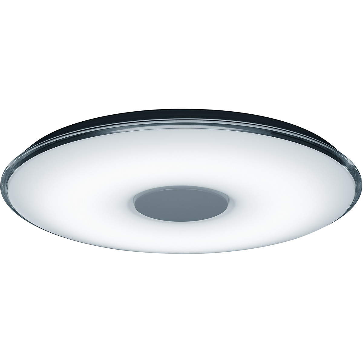 LED Plafondlamp - Trion Tako - 45W - Aanpasbare Kleur - Dimbaar - Afstandsbediening - Rond - Mat Wit