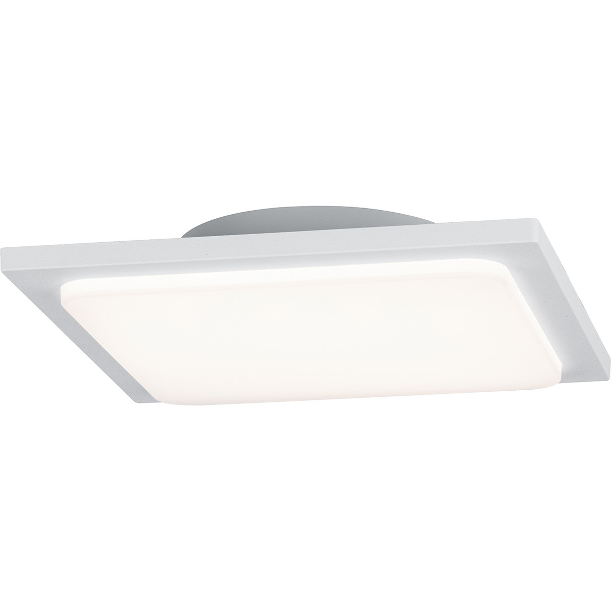LED Plafondlamp - Trion Tovery - Opbouw Vierkant 18W - Waterdicht IP54 - Warm Wit 3000K - Mat Wit -