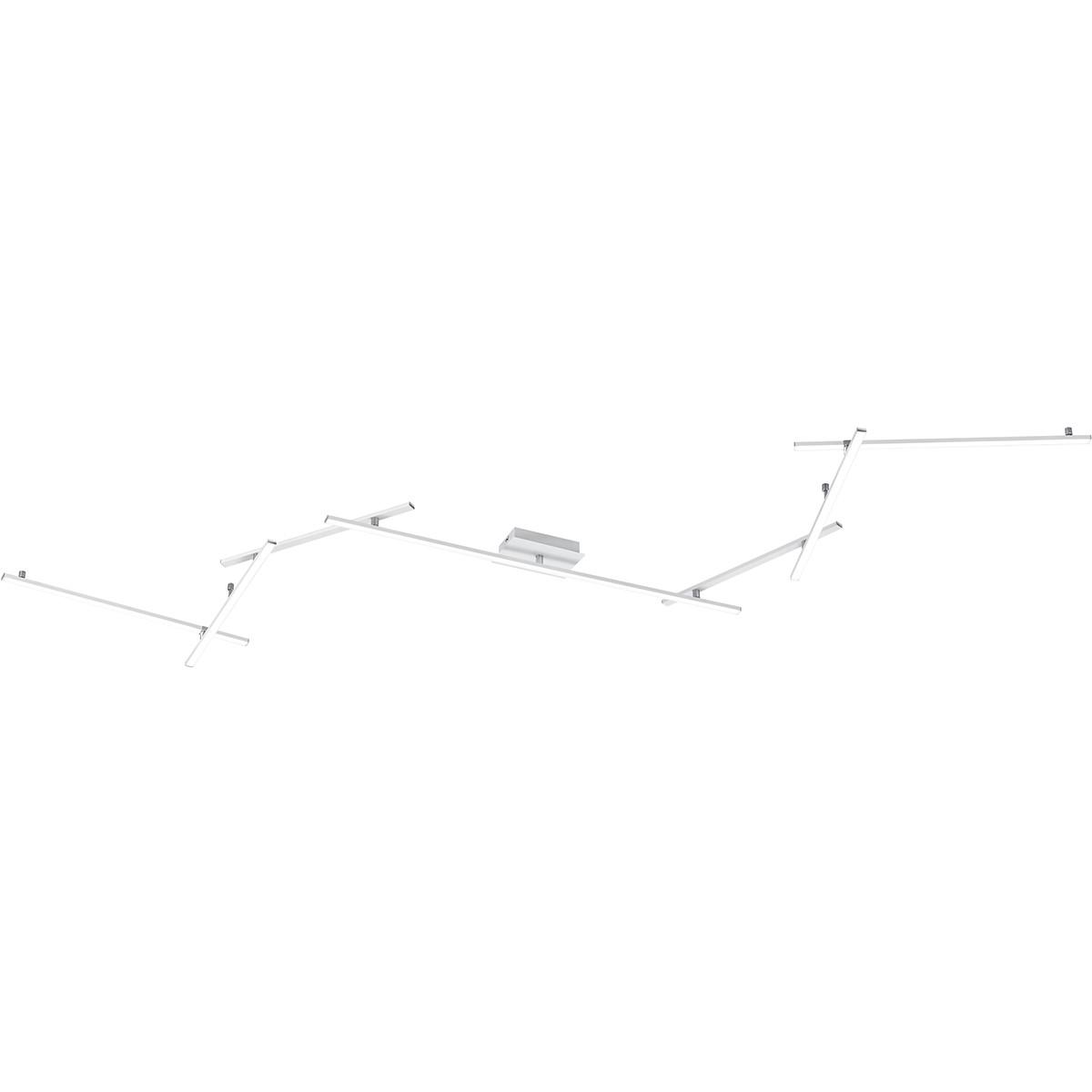 LED Plafondlamp - Trion Undiro - 28W - Natuurlijk Wit 4000K - 2-lichts - Dimbaar - Rechthoek - Mat W