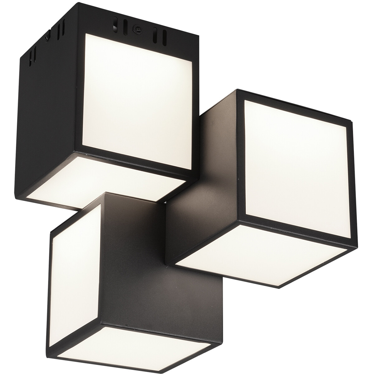LED Plafondlamp WiZ - Smart LED - Plafondverlichting - Trion Oski - 24W - Aanpasbare Kleur - 3-licht