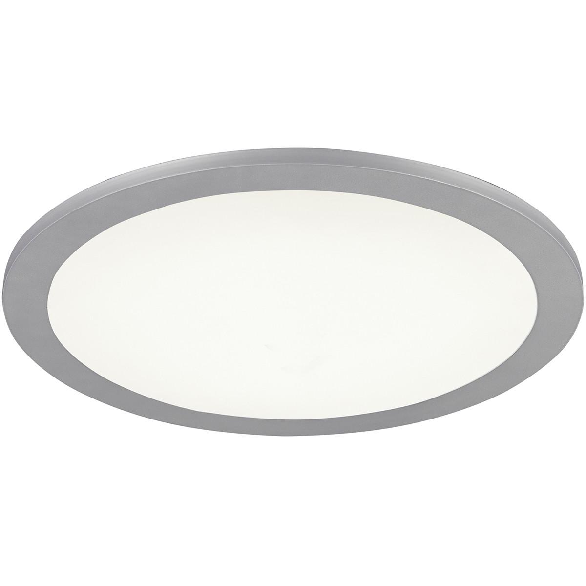 LED Plafondlamp WiZ - Trion Alineon - Slimme LED - Dimbaar - Aanpasbare Kleur - 15W - Mat Titaan - R