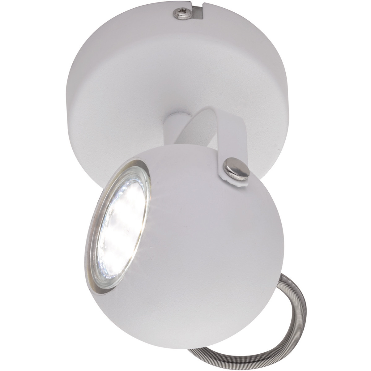 LED Plafondspot - Trion Bosty - GU10 Fitting - 1-lichts - Rond - Mat Wit - Aluminium