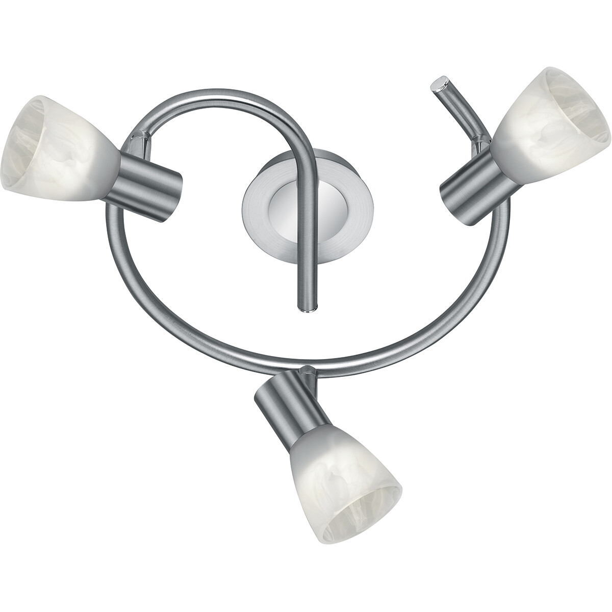 LED Plafondspot - Trion Levino - E14 Fitting - Warm Wit 3000K - 3-lichts - Rond - Mat Nikkel - Alumi