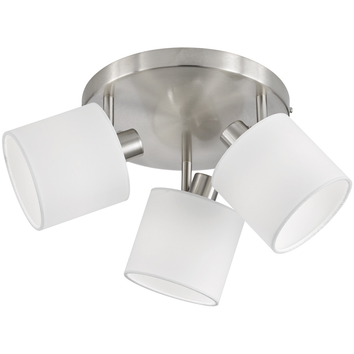 LED Plafondspot - Trion Torry - E14 Fitting - 3-lichts - Rond - Mat Nikkel - Aluminium