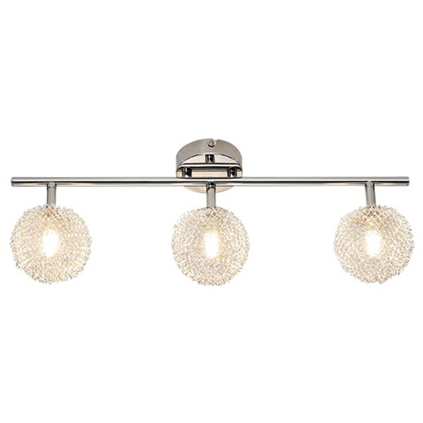 LED Plafondspot - Trion Ware - G9 Fitting - 3-lichts - Rechthoek - Glans Chroom - Aluminium