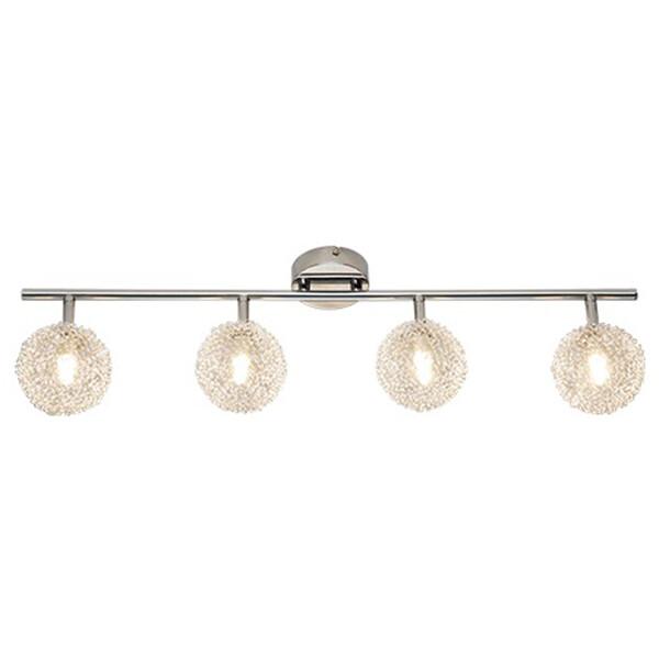 LED Plafondspot - Trion Ware - G9 Fitting - 4-lichts - Rechthoek - Glans Chroom - Aluminium