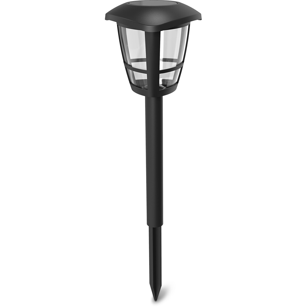 LED Priklamp met Zonne-energie - Aigi Nina - 0.06W - Helder/Koud Wit 6500K - Mat Zwart - Kunststof