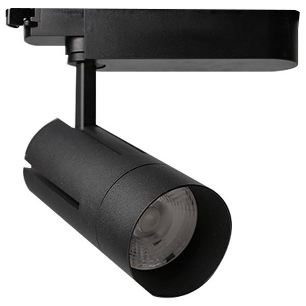 LED Railverlichting - Track Spot - Facto - 30W 1 Fase - Rond - Aanpasbare Kleur - Mat Zwart Aluminiu