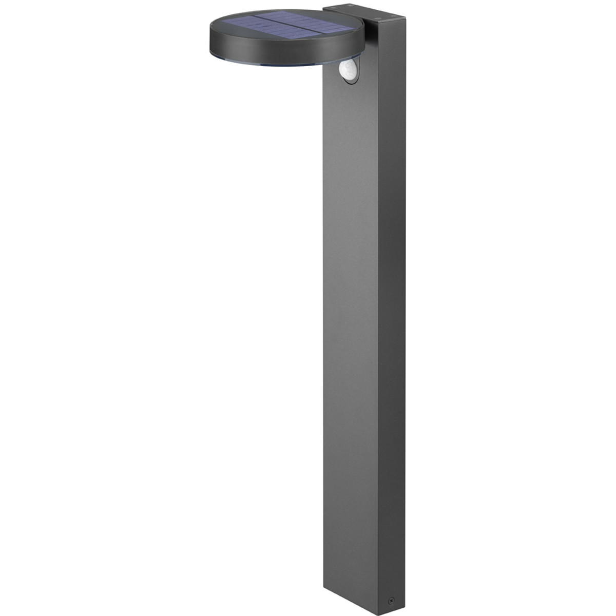 LED Solar Tuinverlichting - Paal/Sokkel - Trion Posino - Zonne-energie - Bewegingssensor - 4W - Antraciet - RVS
