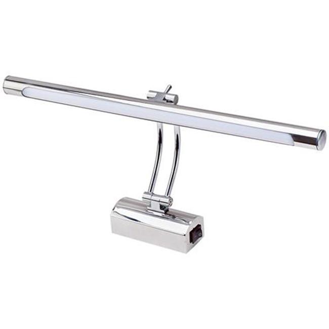 LED Spiegelverlichting - Schilderijverlichting - Akna - Rond 8W - Glans Chroom Aluminium - Verstelba