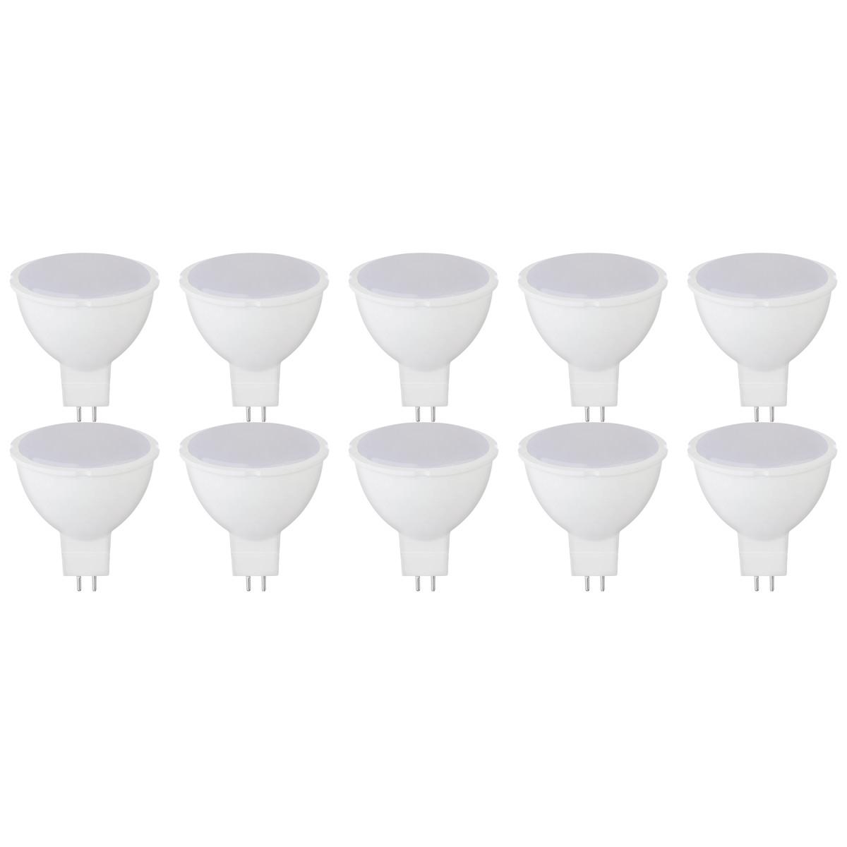 LED Spot 10 Pack - Fona - GU5.3 Fitting - 6W - Warm Wit 3000K - 230V