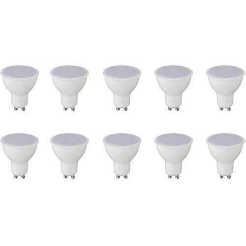 LED Spot 10 Pack - GU10 Fitting - 6W - Helder/Koud Wit 6000K