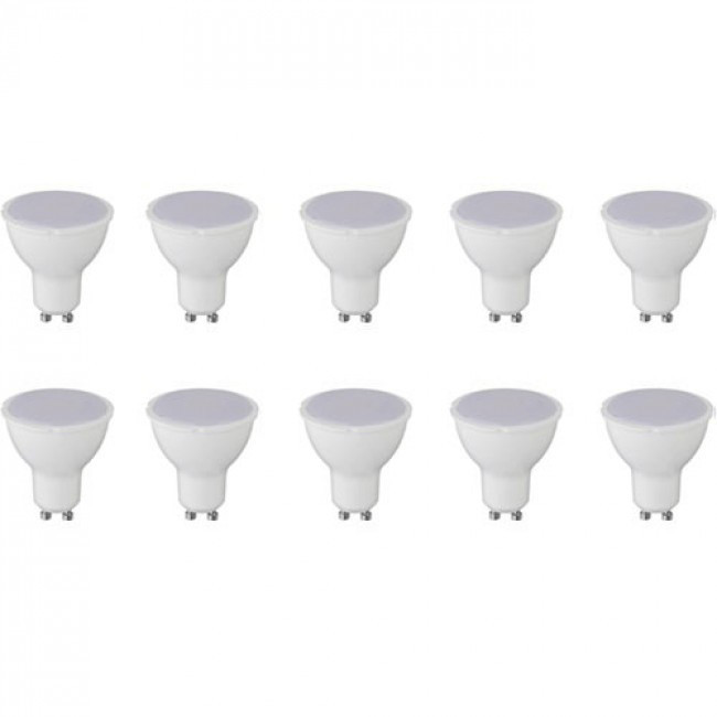 LED Spot 10 Pack - Aigi - GU10 Fitting - 8W - Helder/Koud Wit 6400K