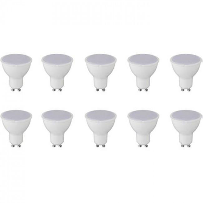 LED Spot 10 Pack - Aigi - GU10 Fitting - 8W - Warm Wit 3000K
