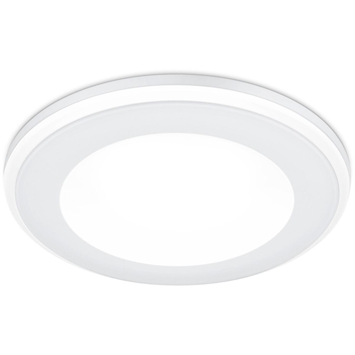 LED Spot - Inbouwspot - Trion Auran - 5W - Warm Wit 3000K - Rond - Mat Wit - Kunststof