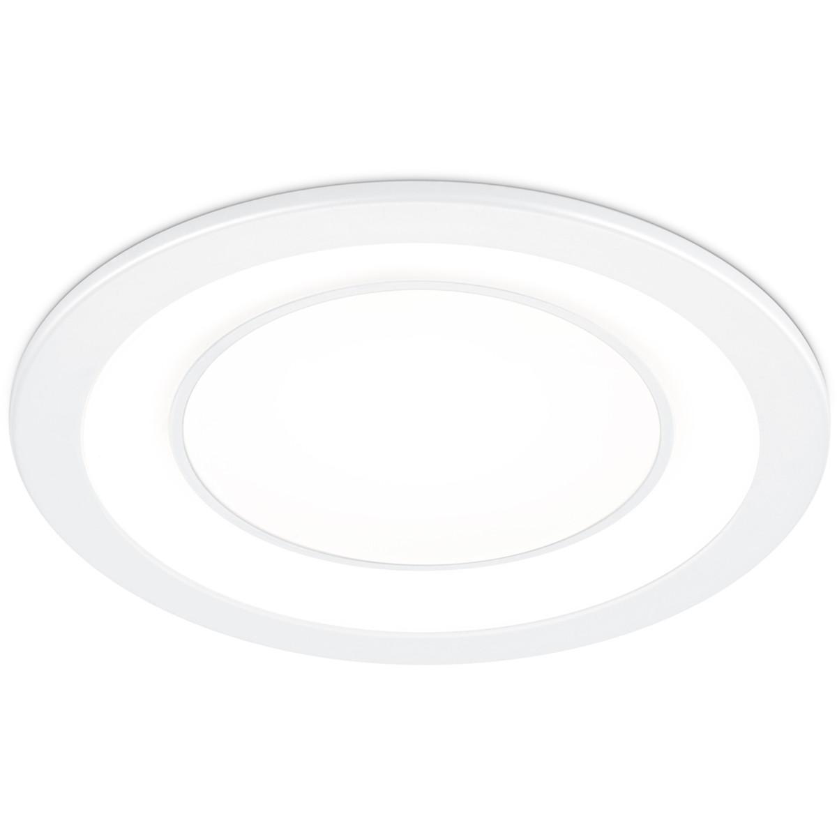 LED Spot - Inbouwspot - Trion Cynomi - 10W - Warm Wit 3000K - Rond - Mat Wit - Kunststof - Ø140mm