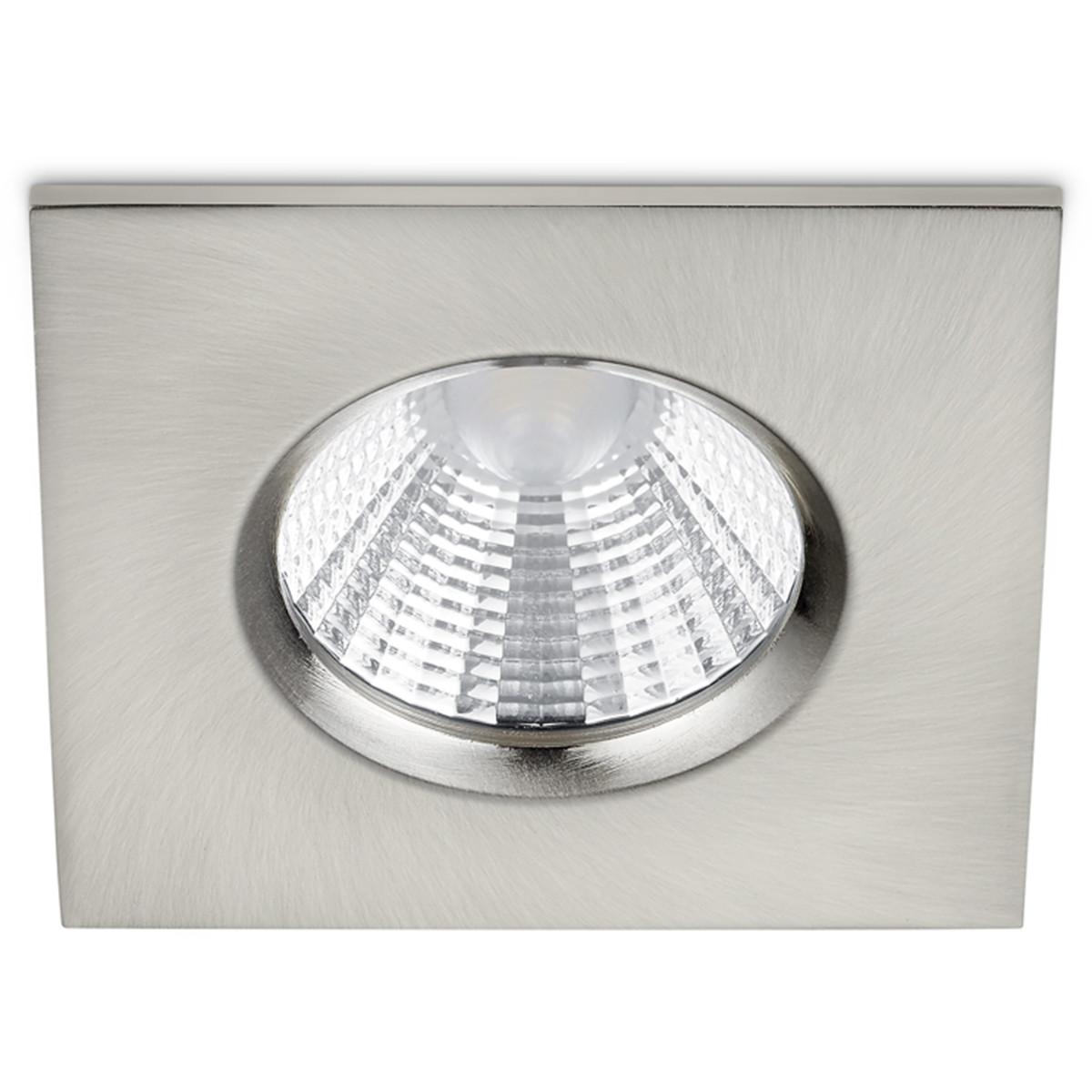 LED Spot - Inbouwspot - Trion Zagrona - 5W - Waterdicht IP65 - Dimbaar - Warm Wit 3000K - Mat Nikkel