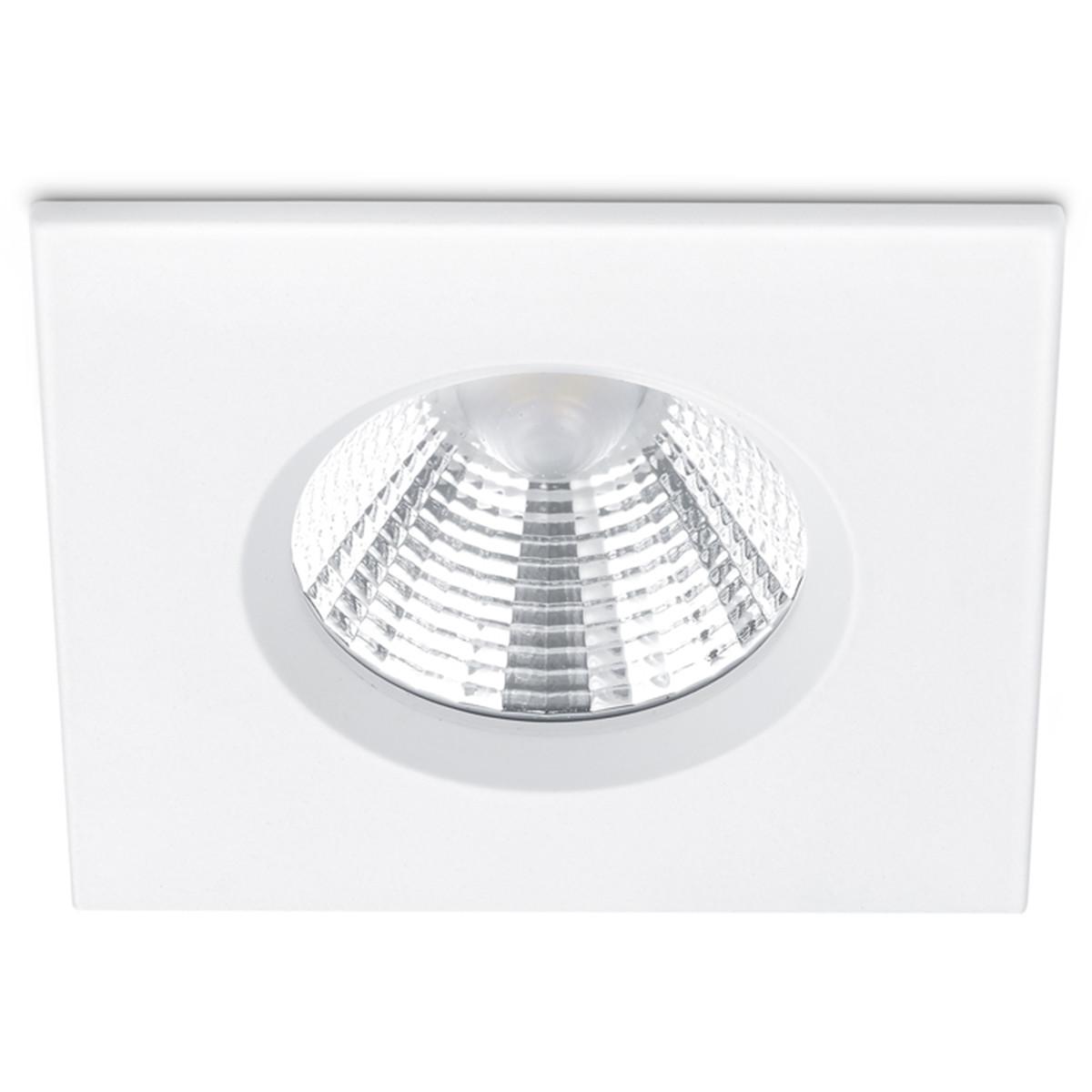 LED Spot - Inbouwspot - Trion Zagrona - 5W - Waterdicht IP65 - Dimbaar - Warm Wit 3000K - Mat Wit -