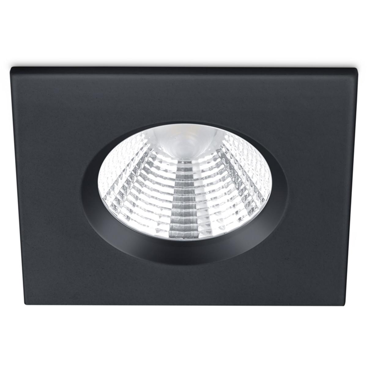 LED Spot - Inbouwspot - Trion Zagrona - 5W - Waterdicht IP65 - Dimbaar - Warm Wit 3000K - Mat Zwart