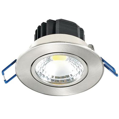 LED Spot - Inbouwspot - Lila - 5W - Helder/Koud Wit 6400K - Rond - Mat Chroom - Aluminium - Kantelba