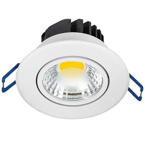 LED Spot - Inbouwspot - Lila - Rond 3W - Warm Wit 2700K - Mat Wit Aluminium - Kantelbaar Ø83mm