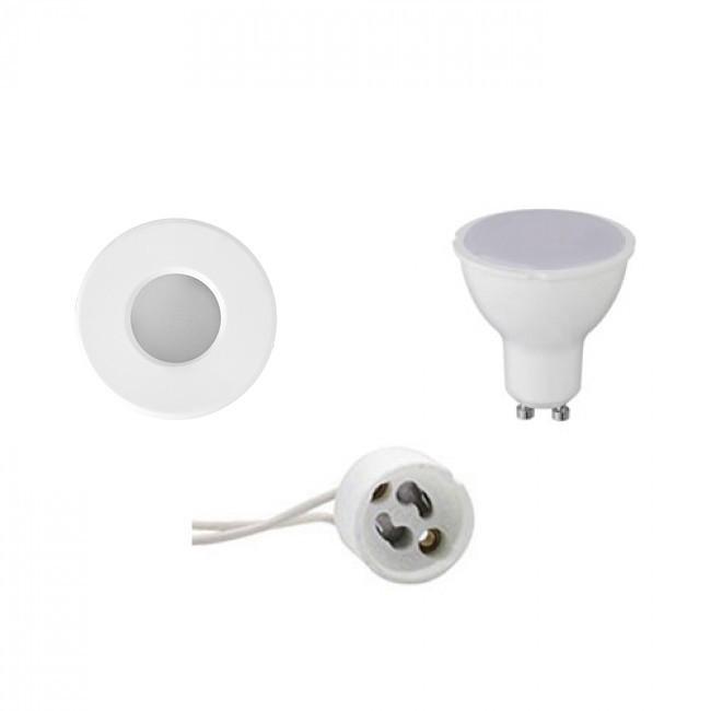 LED Spot Set - Aigi - GU10 Fitting - Waterdicht IP65 - Inbouw Rond - Mat Wit - 6W - Helder/Koud Wit