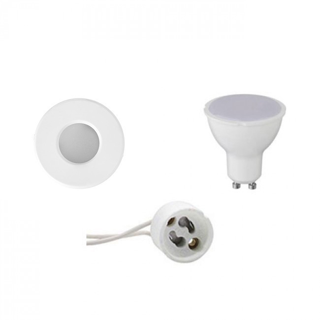 LED Spot Set - Aigi - GU10 Fitting - Waterdicht IP65 - Inbouw Rond - Mat Wit - 8W - Warm Wit 3000K -