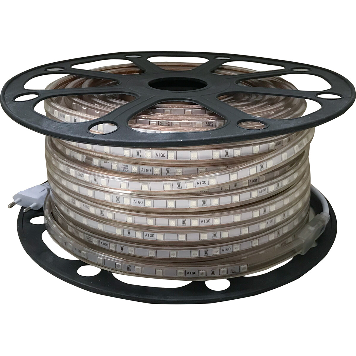 LED Strip - Aigi Strabo - 50 Meter - Dimbaar - IP65 Waterdicht - Blauw - 5050 SMD 230V