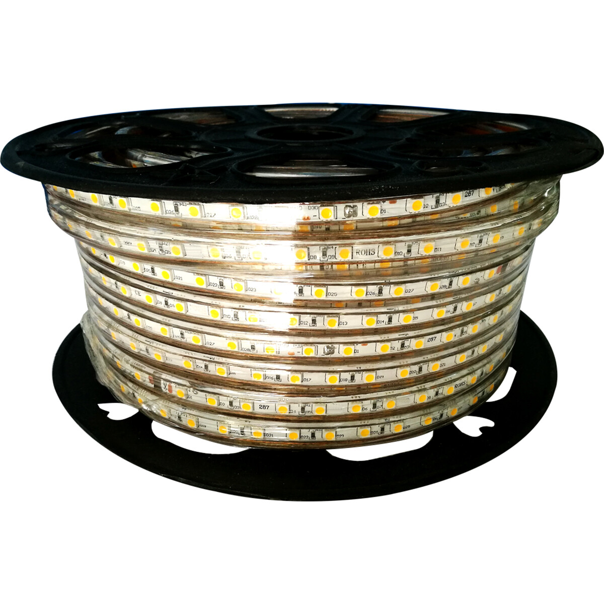 LED Strip - Aigi Strabo - 50 Meter - Dimbaar - IP65 Waterdicht - Warm Wit 3000K - 5050 SMD 230V