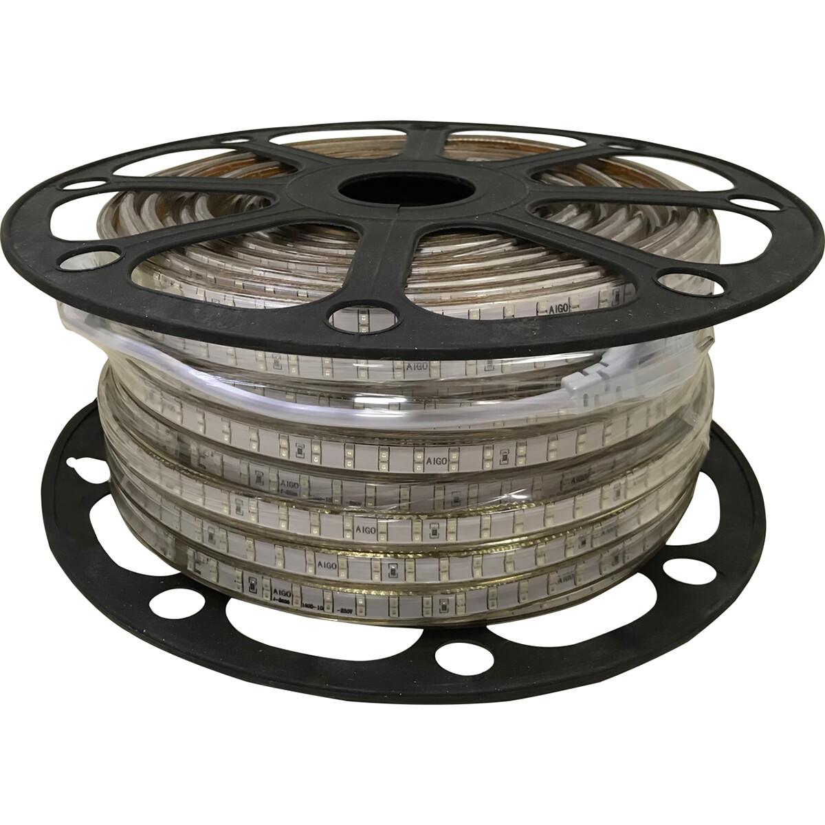 LED Strip - Aigi Strobi - 50 Meter - Dimbaar - IP65 Waterdicht - Rood - 2835 SMD 230V