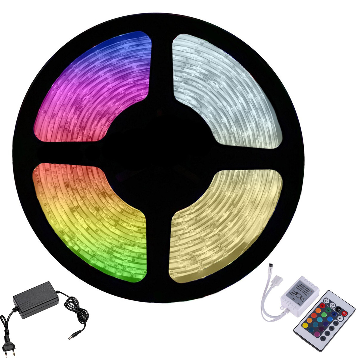 LED Strip Set RGB - 5 Meter - Waterdicht IP65 - Afstandsbediening - 12V