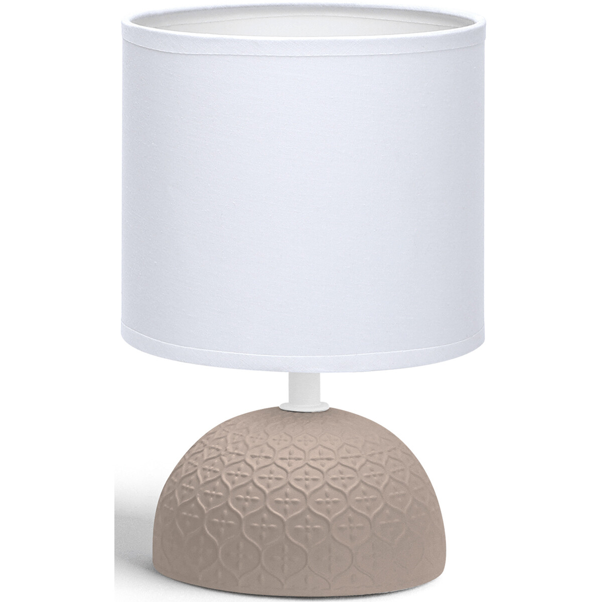 LED Tafellamp - Tafelverlichting - Aigi Conton 1 - E14 Fitting - Rond - Mat Bruin - Keramiek