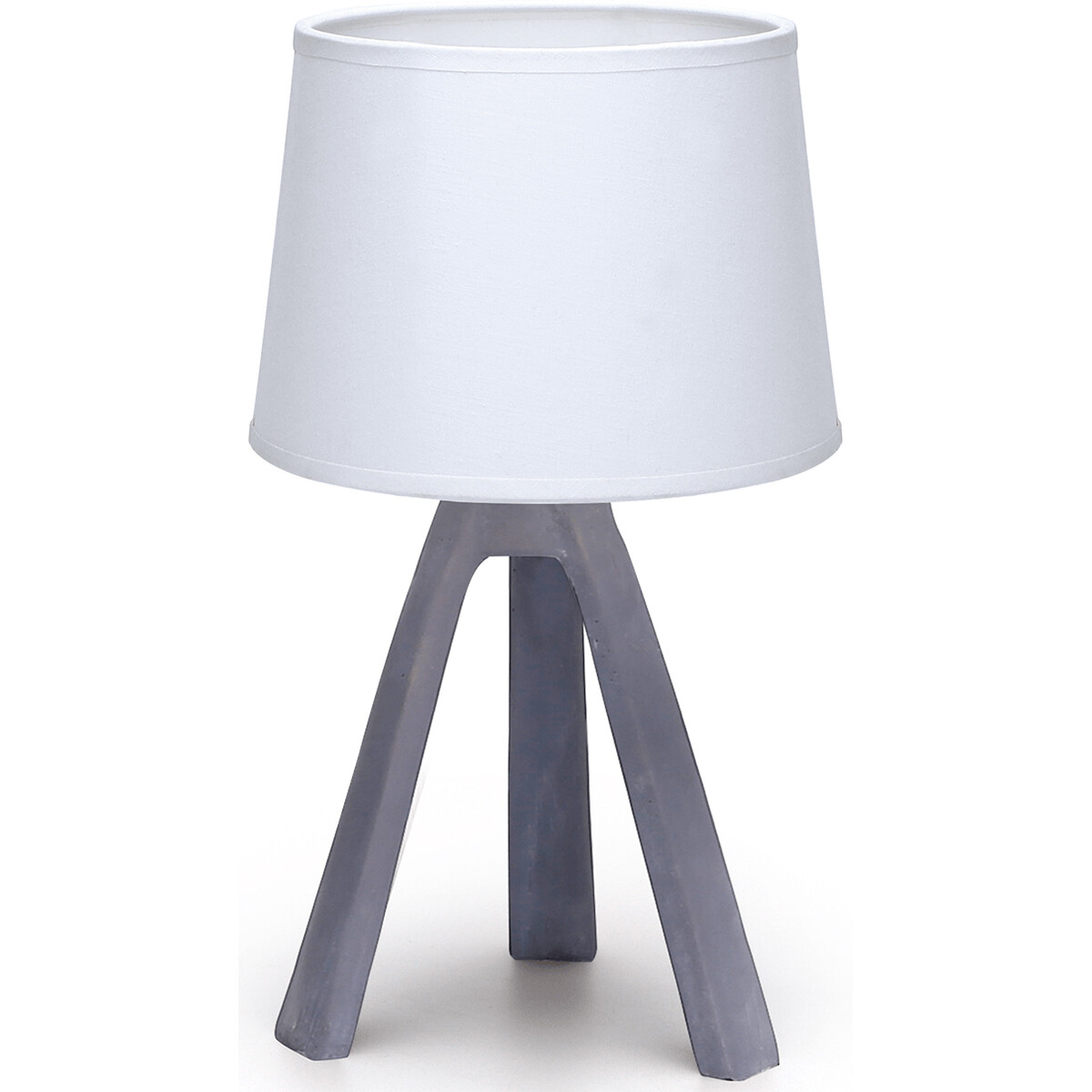LED Tafellamp - Tafelverlichting - Aigi Linmo - E14 Fitting - Rond - Mat Grijs - Kunststof