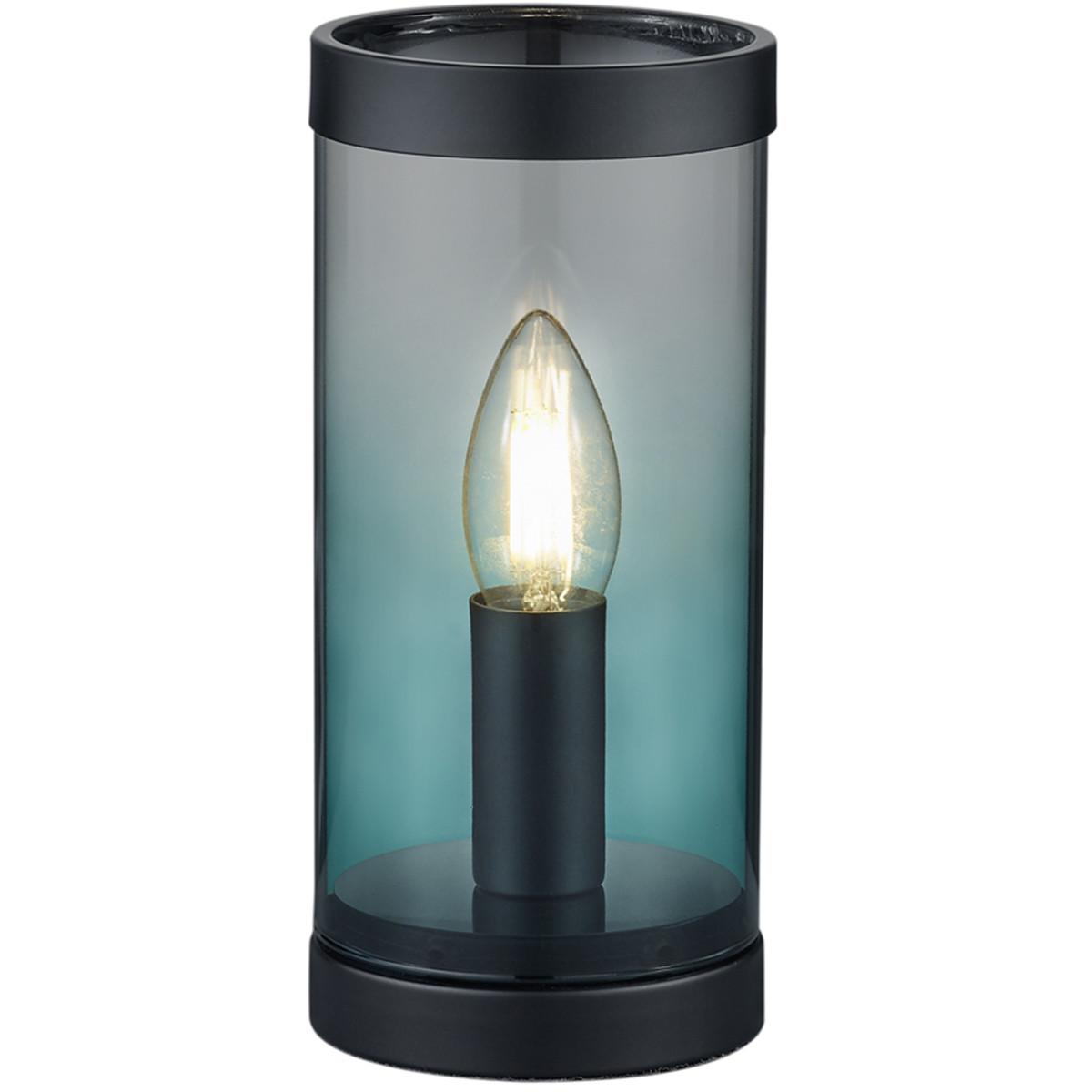 LED Tafellamp - Tafelverlichting - Trion Culo - E14 Fitting - Rond - Turquoise - Aluminium
