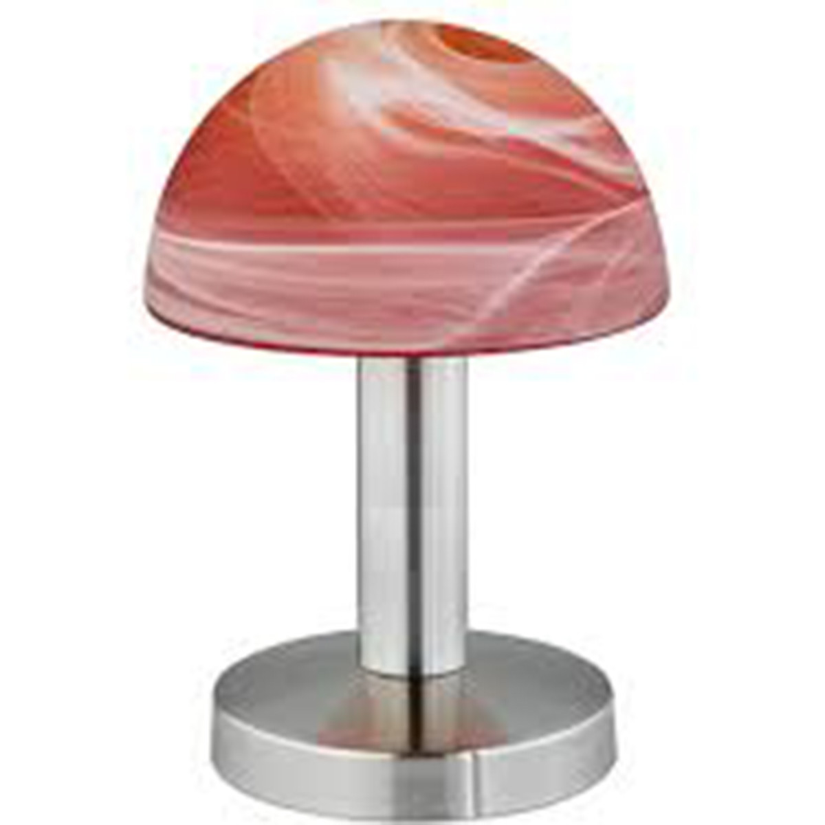 LED Tafellamp - Tafelverlichting - Trion Funki - E14 Fitting - Rond - Mat Oranje - Aluminium