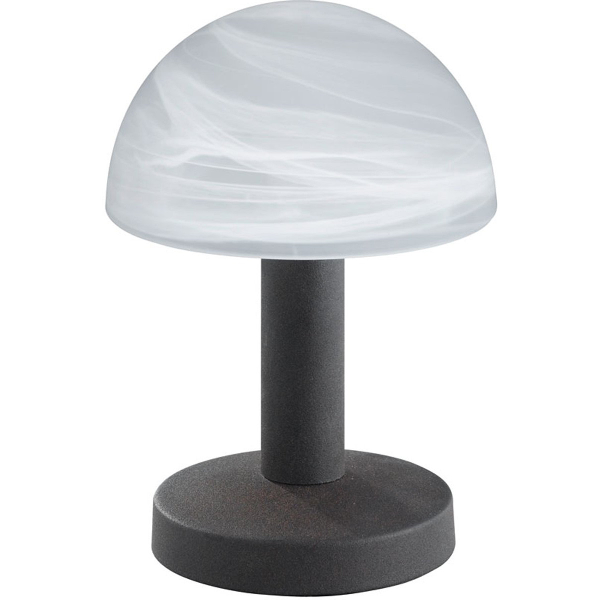 LED Tafellamp - Tafelverlichting - Trion Funki - E14 Fitting - Rond - Roestkleur - Aluminium