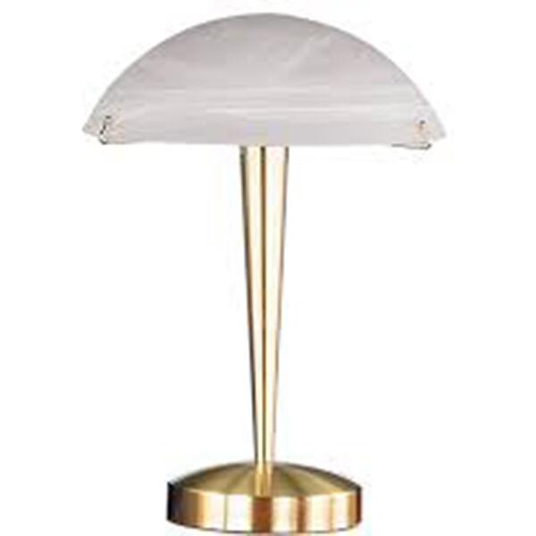 LED Tafellamp - Tafelverlichting - Trion Honk - E14 Fitting - Rond - Mat Goud - Aluminium