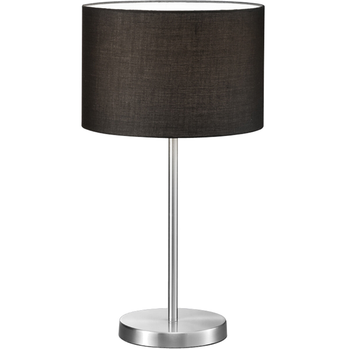 LED Tafellamp - Tafelverlichting - Trion Hotia - E27 Fitting - Rond - Mat Zwart - Aluminium