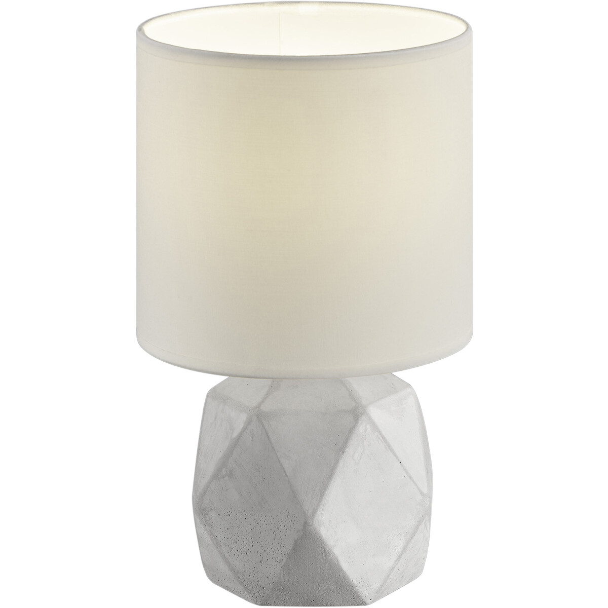 LED Tafellamp - Tafelverlichting - Trion Pikanto - E14 Fitting - Rond - Mat Wit - Beton