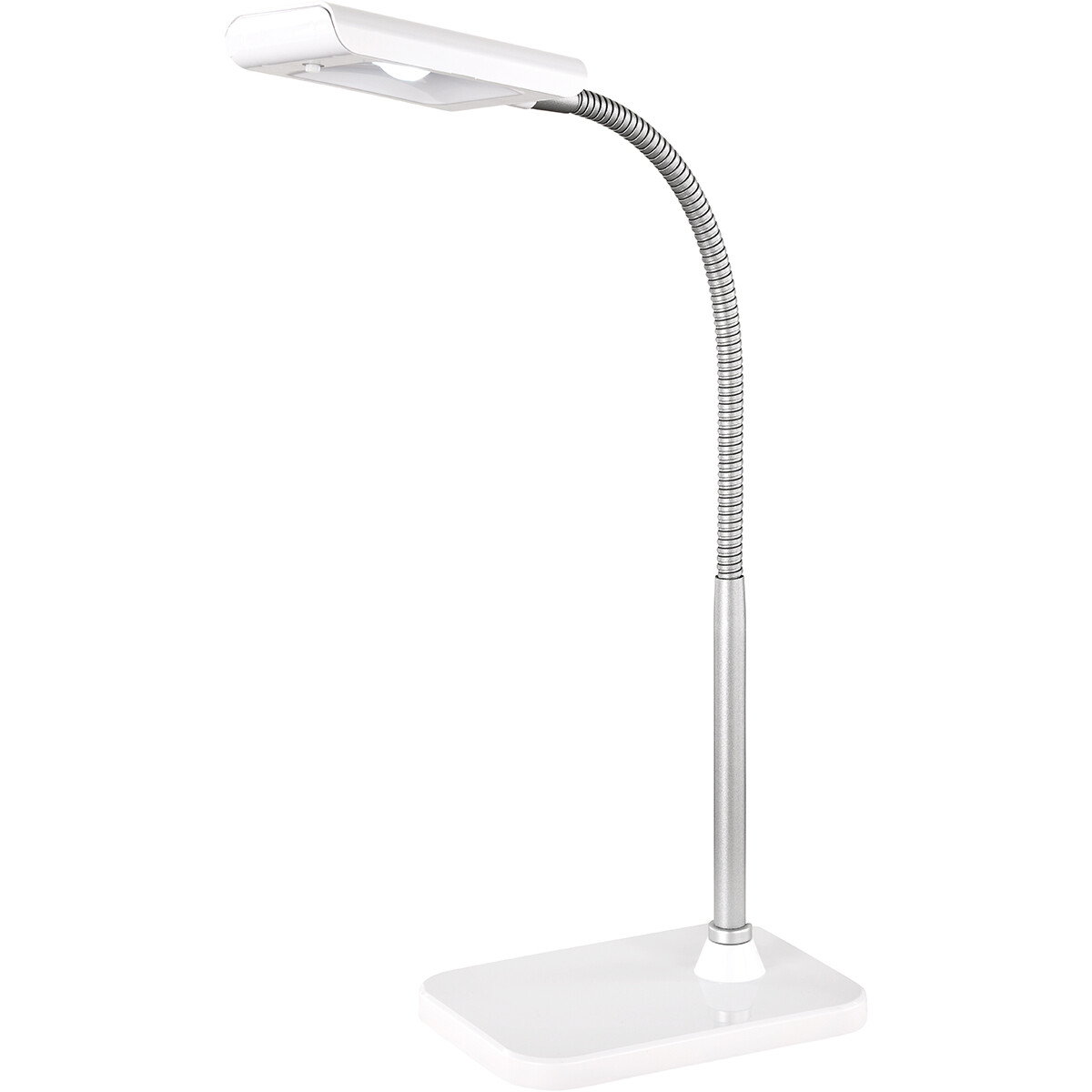LED Tafellamp - Tafelverlichting - Trion Piko - 3W - Warm Wit 3000K - Rechthoek - Mat Wit - Aluminiu