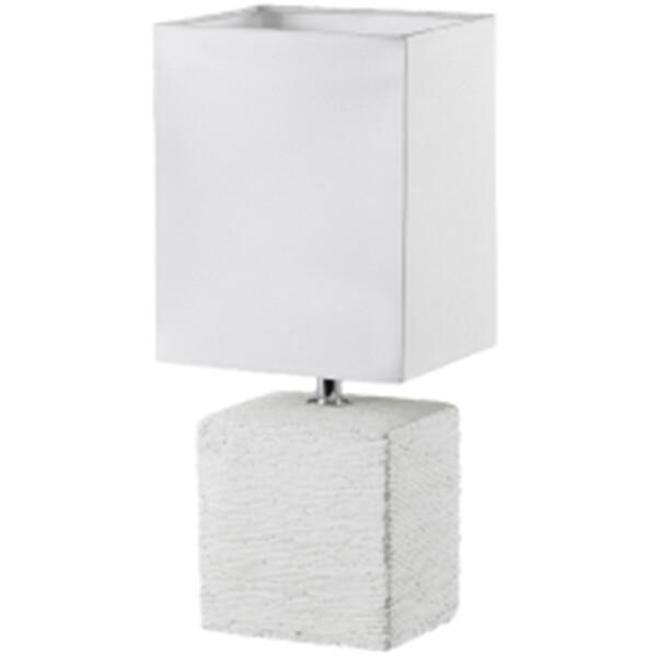 LED Tafellamp - Tafelverlichting - Trion Pinko - E14 Fitting - Rechthoek - Antiek Wit - Keramiek