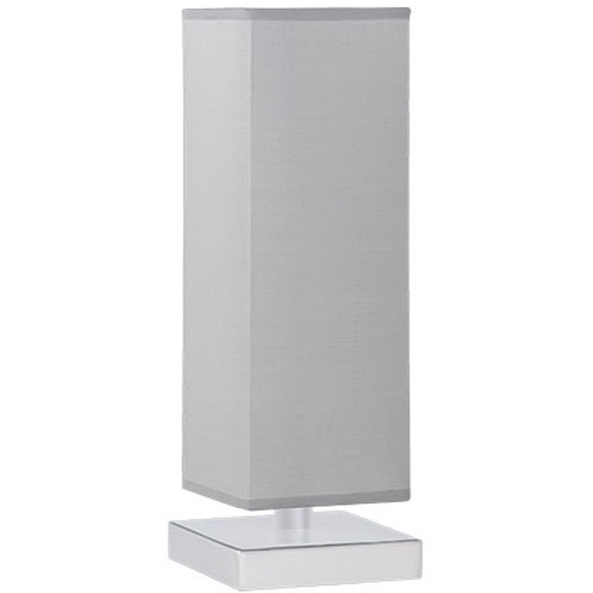 LED Tafellamp - Tafelverlichting - Trion Piti - E14 Fitting - Dimbaar - Rond - Mat Nikkel - Aluminiu