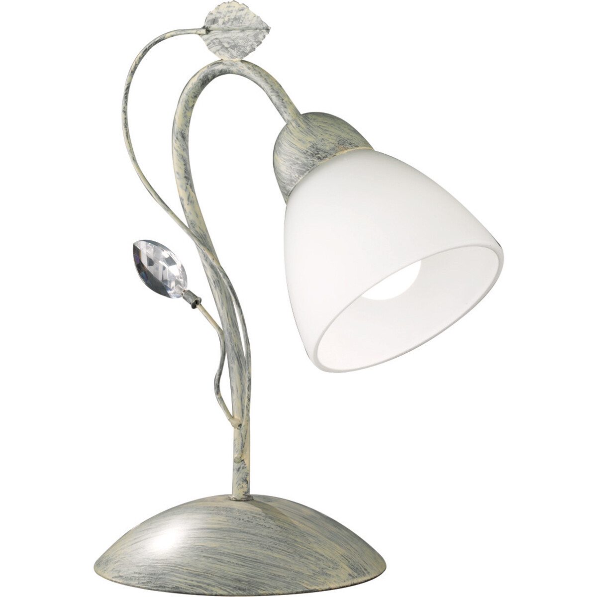 LED Tafellamp - Tafelverlichting - Trion Trada - E14 Fitting - Rond - Antiek Grijs - Aluminium