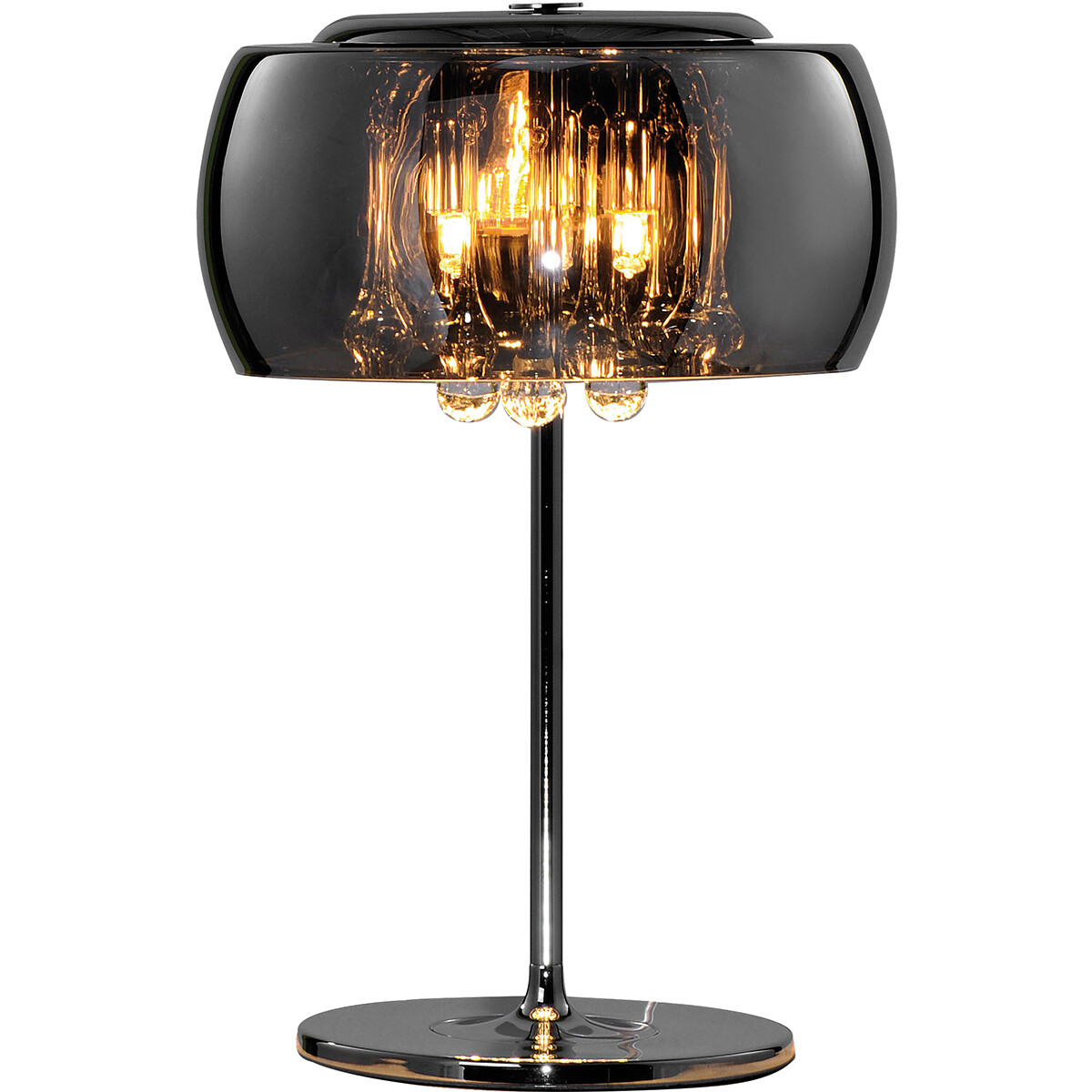LED Tafellamp - Tafelverlichting - Trion Vapiro - G9 Fitting - Rond - Mat Chroom - Aluminium