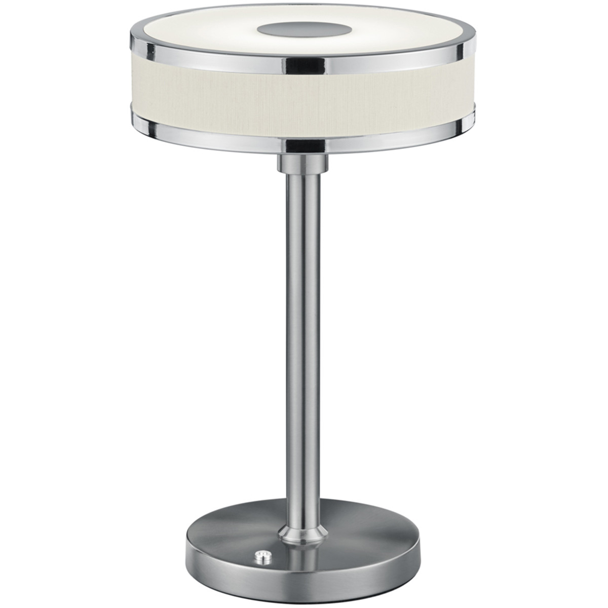 LED Tafellamp - Trion Agiany - 7W - Warm Wit 3000K - Dimbaar - Rond - Mat Nikkel - Aluminium