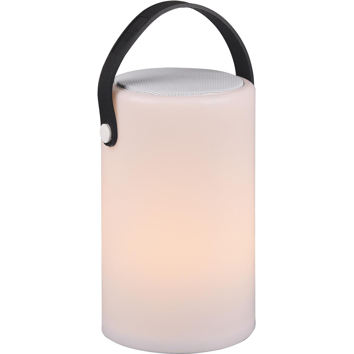 LED Tafellamp - Trion Berimany - Bluetooth Speaker - Dimbaar - Spatwaterdicht - Afstandsbediening -